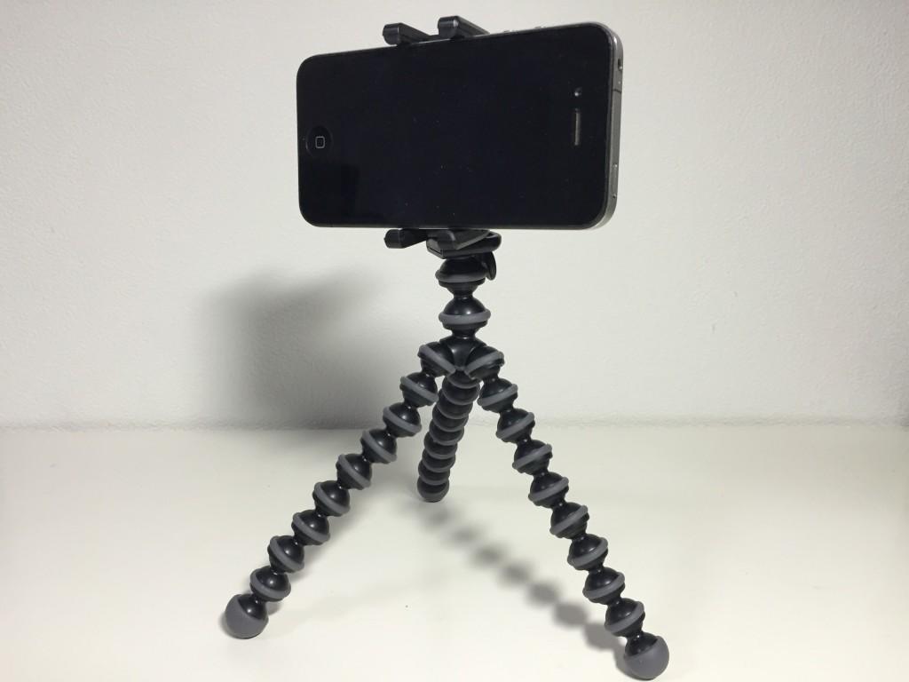 ゴリラポッドにiPhoneを装着!!