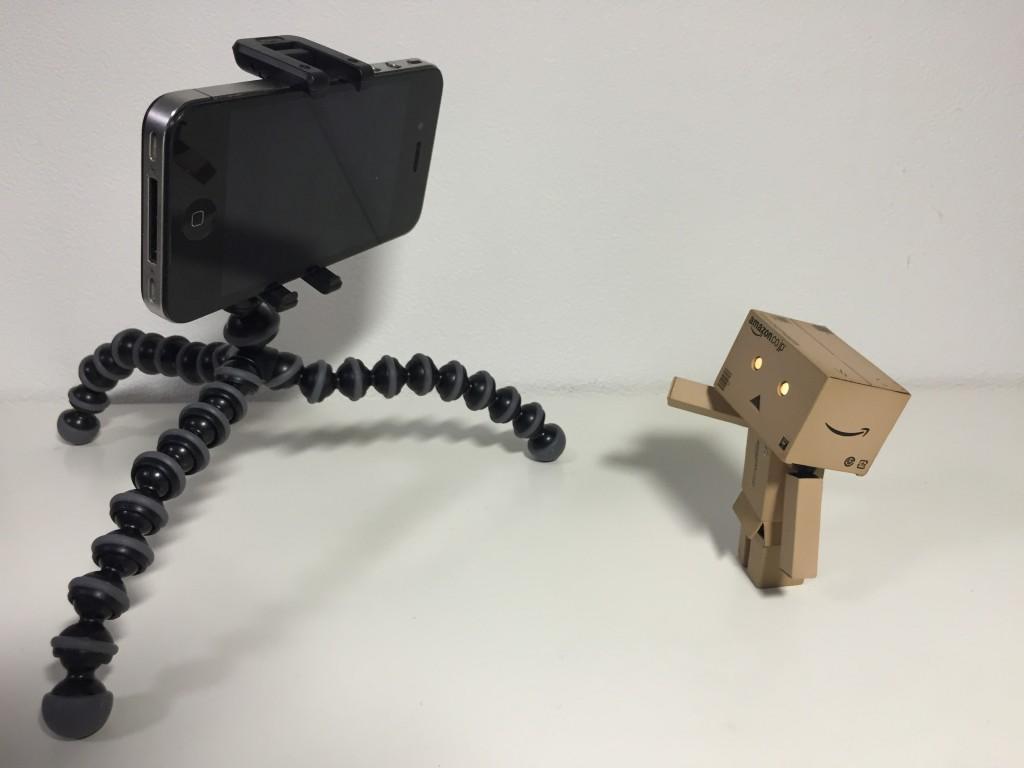 ゴリラポッドiPhoneでダンボーを撮影!