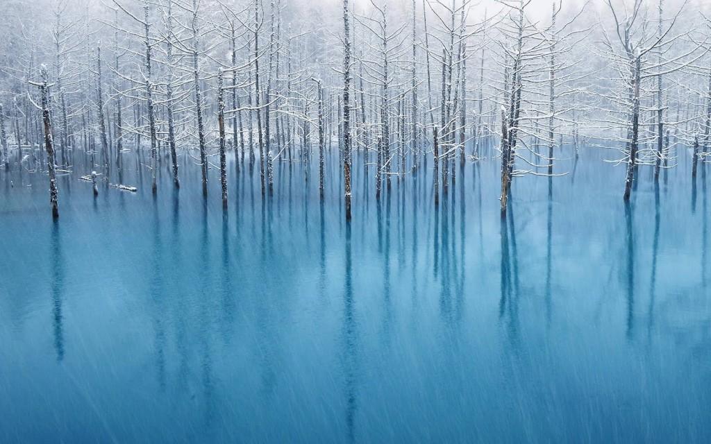 青い池:北海道
