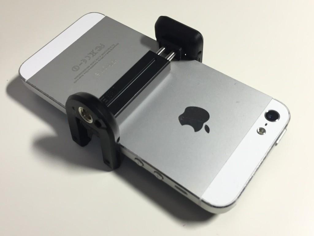 iPhone5をグリップタイトで挟んだ写真